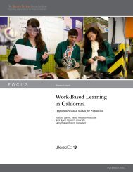 Work-Based Learning in California: Opportunities and ... - ConnectEd