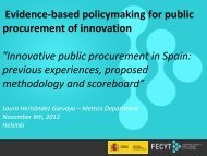 Innovative public procurement in Spain