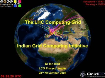 The LHC Computing Grid Indian Grid Computing Initiative - Garuda