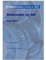 Smøreoljer og fett - Kolberg Caspary Lautom AS