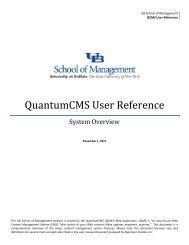 QuantumCMS basic user tutorial [PDF] - University at Buffalo School ...
