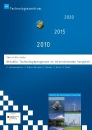 Aktuelle Technologieprognosen im internationalen Vergleich