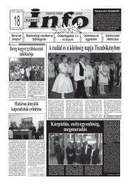 A család és a közösség napja Tiszabökényben - Kárpátinfo.net