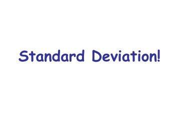Standard deviation notes - Biology for Life