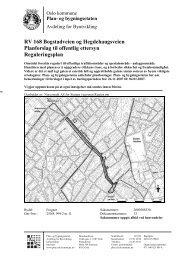 RV 168 Bogstadveien og Hegdehaugsveien Planforslag til offentlig ...
