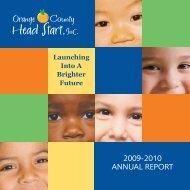 2009-2010 ANNUAL REPORT - Orange County Head Start, Inc.