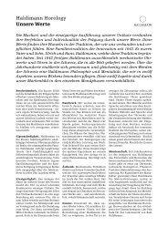 Unsere Werte - Haldimann Horology