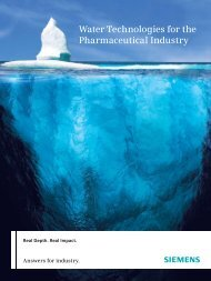Water Technologies for the Pharmaceutical Industry - Siemens