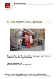 Le réseau de chaleur biomasse de Cransac