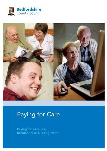 Paying for Care - Bedfordshire County Council