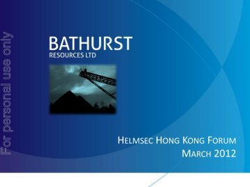 20120323 Investor Presentation.pdf - Bathurst Resources Ltd