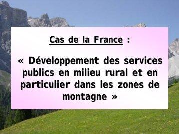 EUROMONTANA, L'approche française aux services d'intérêt ...