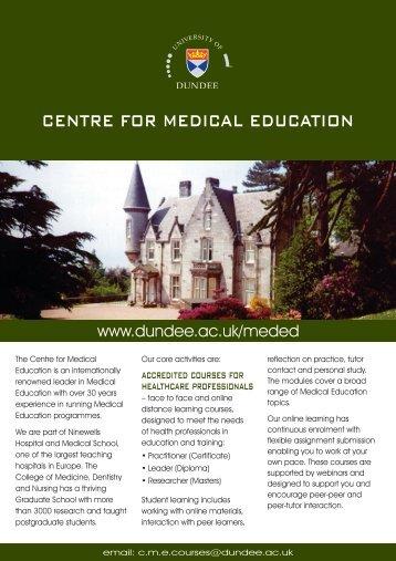 centre for medical education - School of Medicine - University of ...