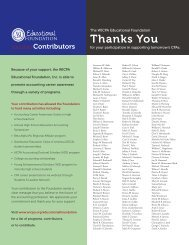 2012-2013 Educational Foundation Contributors