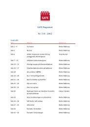 SAFE Magasinet Nr. 7/8 – 2002