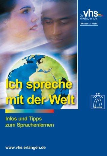 """Broschüre """"Ich spreche mit der Welt"""" - vhs Erlangen"""