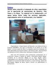 Sesión sobre atención al alumnado de altas capacidades ... - Navarra
