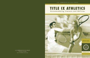 TITLE IX ATHLETICS - U.S. Commission on Civil Rights