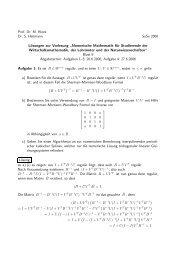 Prof. Dr. M. Hinze Dr. S. Heitmann SoSe 2006 Lösungen zur ...