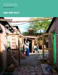 2005 Annual Report - David Rockefeller Center for Latin American ...