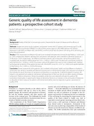 Generic quality of life assessment in dementia ... - TimeOut intensiva