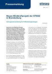 Pressemeldung - STEAG