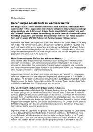Absatz 2006 - Erdgas Obersee AG