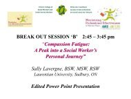 Compassion Fatigue - Ontario College of Social Workers and Social ...