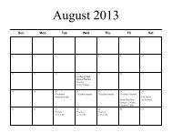 Fall 2013 JV Dance Calendar 1 - Hinsdale South High School