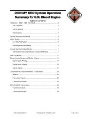 2008 MY OBD System Operation Summary for 6.0L Diesel Engine