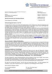 Deutscher Hausärzteverband Landesverband Baden-Württemberg