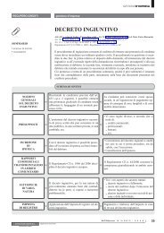 DECRETO INGIUNTIVO - Ratio
