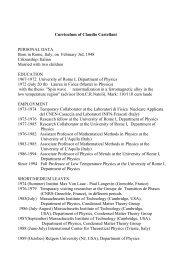 Curriculum Vitae - La Sapienza