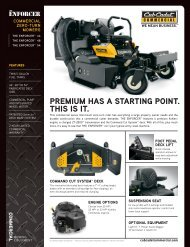 pREMIUM hAS A STARTIng pOInT. ThIS IS IT. - Cub Cadet