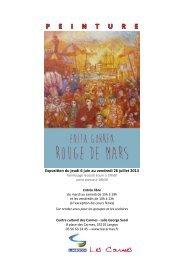 P E I N T U R E - Centre Culturel des Carmes