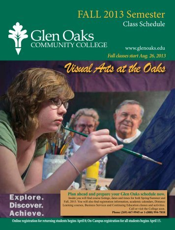 Class Schedule - Glen Oaks Community College