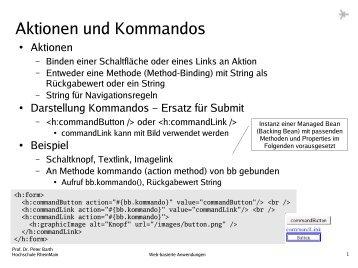 11 JSF - UI-Komponenten, Validierung - Hochschule RheinMain