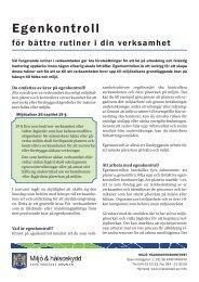 Egenkontroll - för bättre rutiner i din verksamhet - Kristianstad