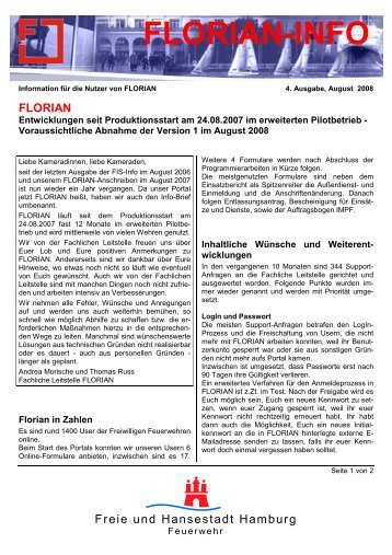 FLORIAN-INFO - Freiwillige Feuerwehr Hamburg