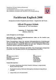 Fachforum Englisch 2008 - English Academy