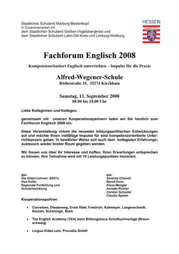 forum schule englisch english