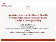 7470 - Center for State Health Policy, Rutgers University