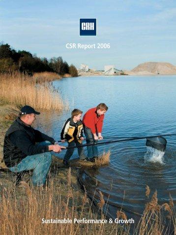 Sustainable Performance & Growth CSR Report 2006 - CRH