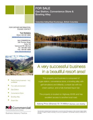 A very successful business in a beautiful resort area! - NAI Commercial