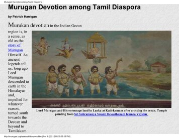Murugan Devotion among Tamil Diaspora - Murugan Bhakti