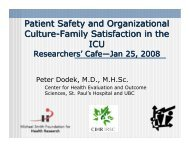 Patient Safety and Organizational Culture-Family Satisfaction in the ...