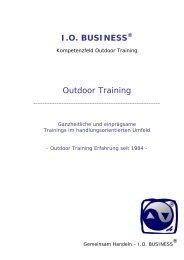 I.O. BUSINESS Outdoor Training