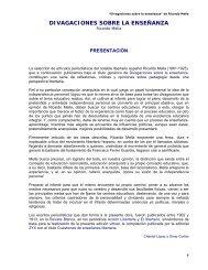 Divagaciones sobre la enseñanza - Ricardo Mella - KCL