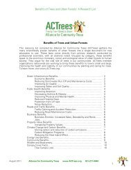 Benefits of Trees and Urban Forests - Alliance for Community Trees