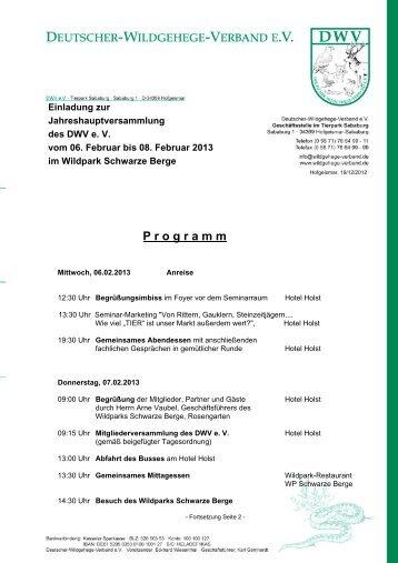 Einladung Jahreshauptversammlung
